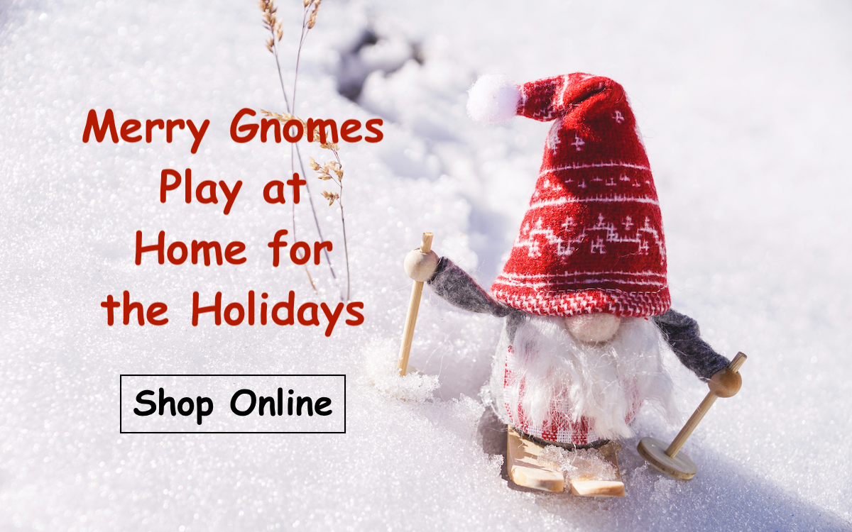 A Skiing Gnome and Holiday Message